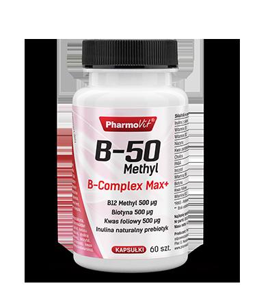 B-50 Methyl B-complex Max+ Kompleks witamin z grupy B Pharmovit