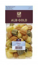 ALB-GOLD bio makaron pszenny TRÓJKOLOROWY 250g
