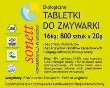 SONETT tabletki do zmywarki BEZZAPACHOWE 800szt