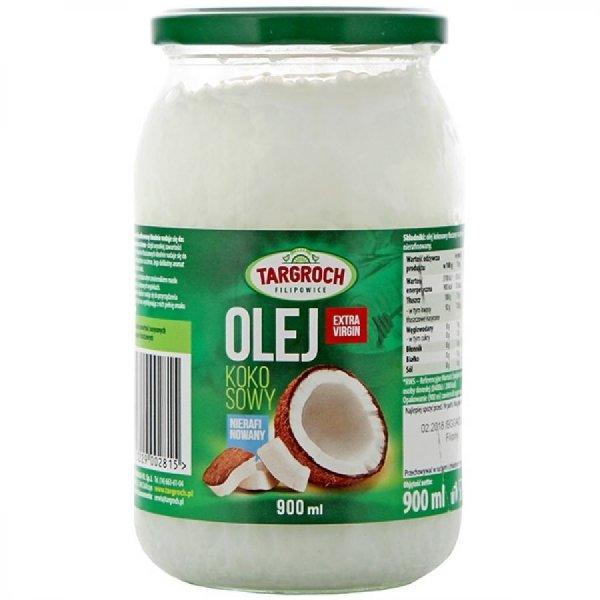 Olej Kokosowy Extra Virgin Nierafinowany Surowy Zapachowy 900 ml - Targroch