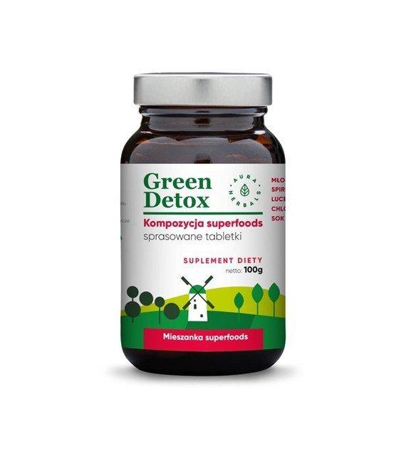 Green Detox - kompozycja superfoods - tabletki (100g) Aura