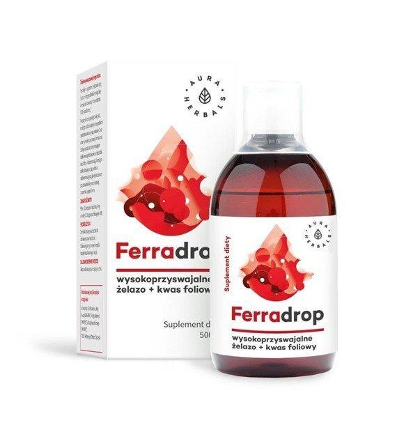 Ferradrop - żelazo + kwas foliowy - płyn (500ml)