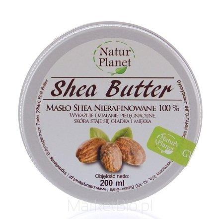 Masło Shea Nierafinowane 200 ml Natur Planet
