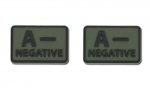Helikon - Naszywka PVC - Grupa Krwi - A- NEG - Zielony OD - 2szt.