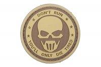 Naszywka 3D – Don't Run - Ghost - tan