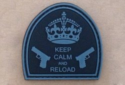 Naszywka - Keep Calm And Reload - Black