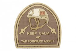 Naszywka 3D – Keep Calm And Tap Forvard Assist - tan