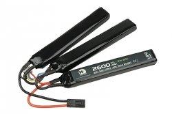 Akumulator LiPo 2600mAh 11.1V 20C - trójdzielny