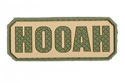 Naszywka 3D - Hooah - oliwkowa