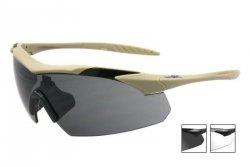 Okulary Wiley X® Vapor Grey/Clear - Tan Frame