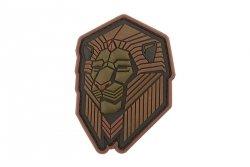 Naszywka Industrial Lion PVC - Bronze