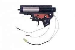 Specna Arms - Kompletny gearbox V2 Mod.2 ze stykiem elektronicznym (kable na tył)