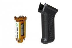 Chwyt pistoletowy Slim + silnik SL-Torque do replik typu AK - czarny
