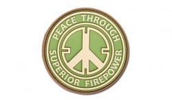 JTG - Naszywka 3D - Peace Through Superior Firepower - Multicam