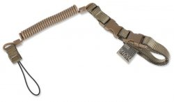 Cetacea Tactical - Plain Clothes Mini-Coil Lanyard - Coyote Brown