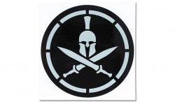 MIL-SPEC MONKEY - Naklejka - Spartan Helmet Stencil