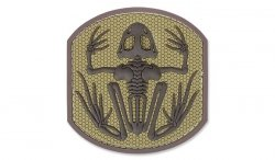 MIL-SPEC MONKEY - Morale Patch - Frog Skeleton - PVC - Desert