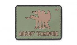 101 Inc. - Naszywka 3D - Airsoft Teamwork - Zielony OD