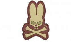 101 Inc. - Naszywka 3D - Skull Bunny - Coyote