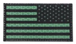 Combat-ID - Naszywka USA Prawa - Duża - Zielony - Gen I - USG