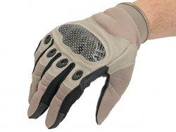 Military Combat Gloves mod. IV (Size XL) - TAN [8FIELDS]