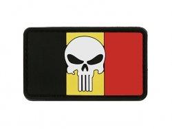 Naszywka Flag Skull BELGIUM 2 [8FIELDS]