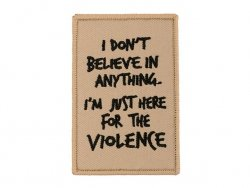 Naszywka haftowana Here For The Violence [WaveCombat]