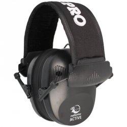 RealHunter - Ochronniki słuchu Active Pro Black + Okulary (258-022)