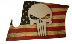 Naklejka - STICKERS MILITARY - Punisher White US