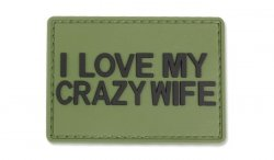 4TAC - Naszywka 3D - I Love My Crazy Wife
