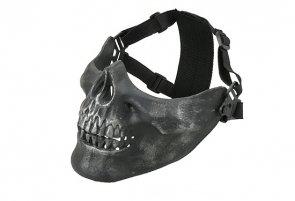 Maska Ultimate Tactical Mortus V2 - Black/Sliver