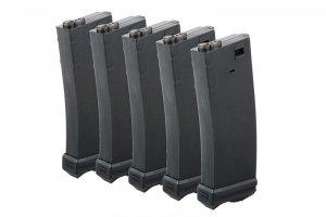 Modify - Zestaw 5 magazynków Mid-Cap na 190 kulek do M4