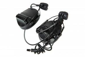Zestaw słuchawkowy Z154 CIII z adapterem do hełmów typu FAST - czarny
