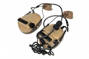 Zestaw słuchawkowy Z154 CIII z adapterem do hełmów typu FAST - DE