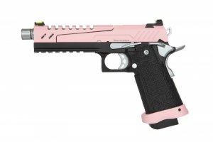 Replika pistoletu Hi-capa 5.1 Split Slide - różowa / czarna / chrom