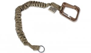 Cetacea Tactical - Poly-Bina Covered Mini Coil Tether - Coyote Brown