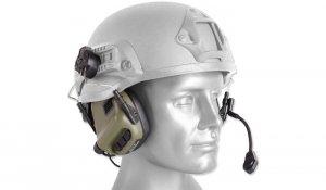 Earmor - Zestaw słuchawkowy M32 Tactical do hełmów - Foliage Green