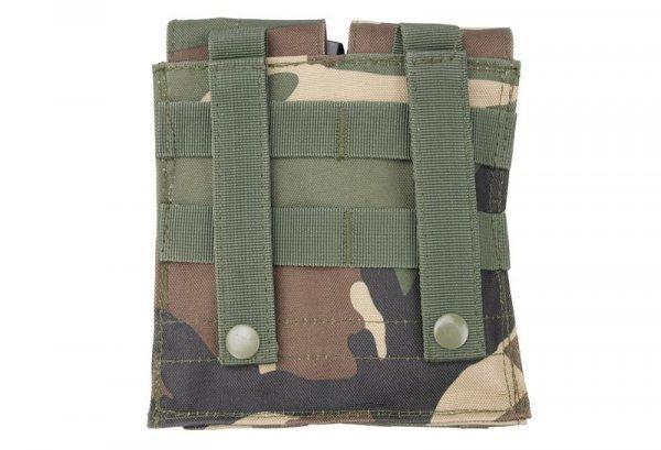 Podwójna ładownica na magazynki M4/M16 - woodland