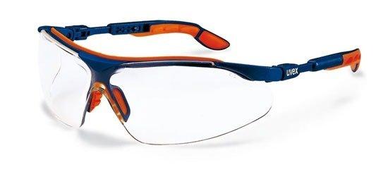 Uvex - Okulary I-vo - bezbarwne, oprawki niebiesko-pomarańczowe