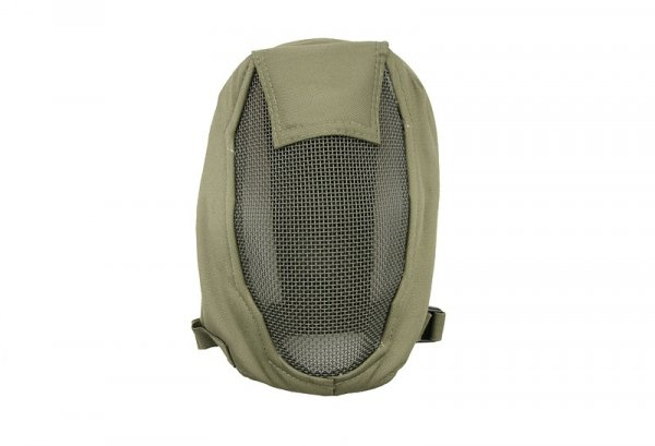 Pełna maska stalowa Ventus - oliwkowa