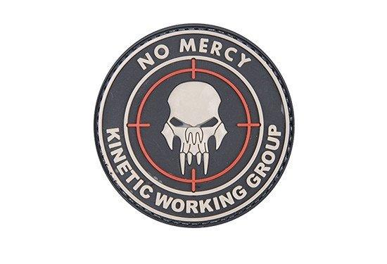 Naszywka 3D - NO MERCY – KINETIC WORKING GROUP - Black