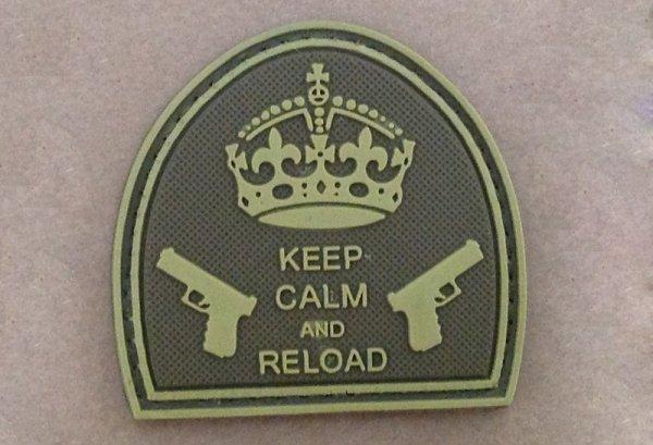 Naszywka - Keep Calm And Reload - Tan