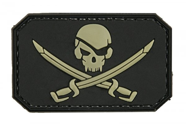 Naszywka 3D – Pirate Skull - czarna