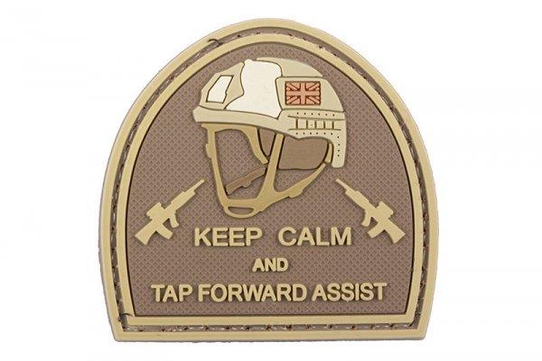 Naszywka 3D – Keep Calm And Tap Forvard Assist - tan