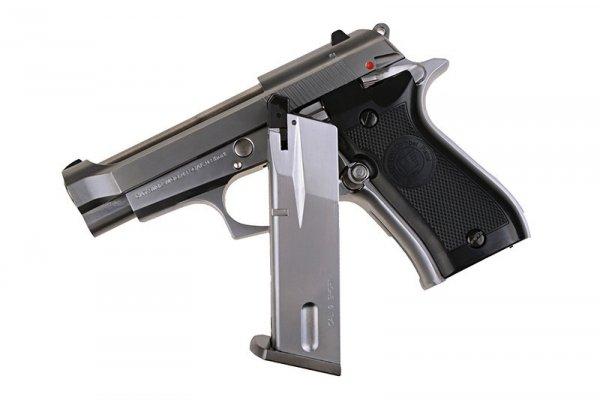 WE - Replika Beretta M84 Mini - srebrna