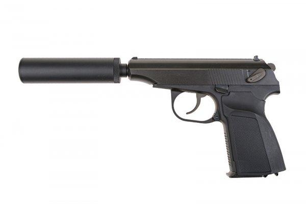 WE - Replika MK z tłumikiem - czarna