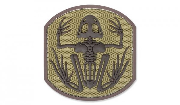 MIL-SPEC MONKEY - Morale Patch - Frog Skeleton - PVC - Desert