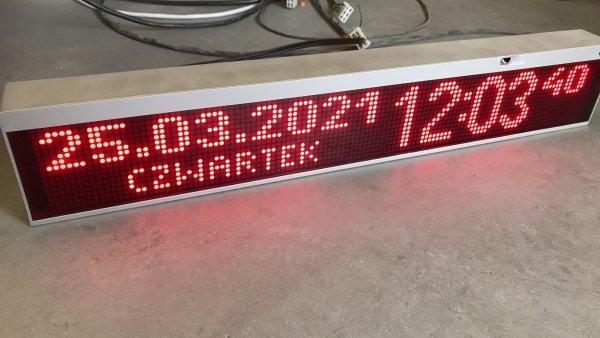 Tablica LED XTL 16x120 - uszkodzona obudowa od frontu - Produkt kolekcjonerski
