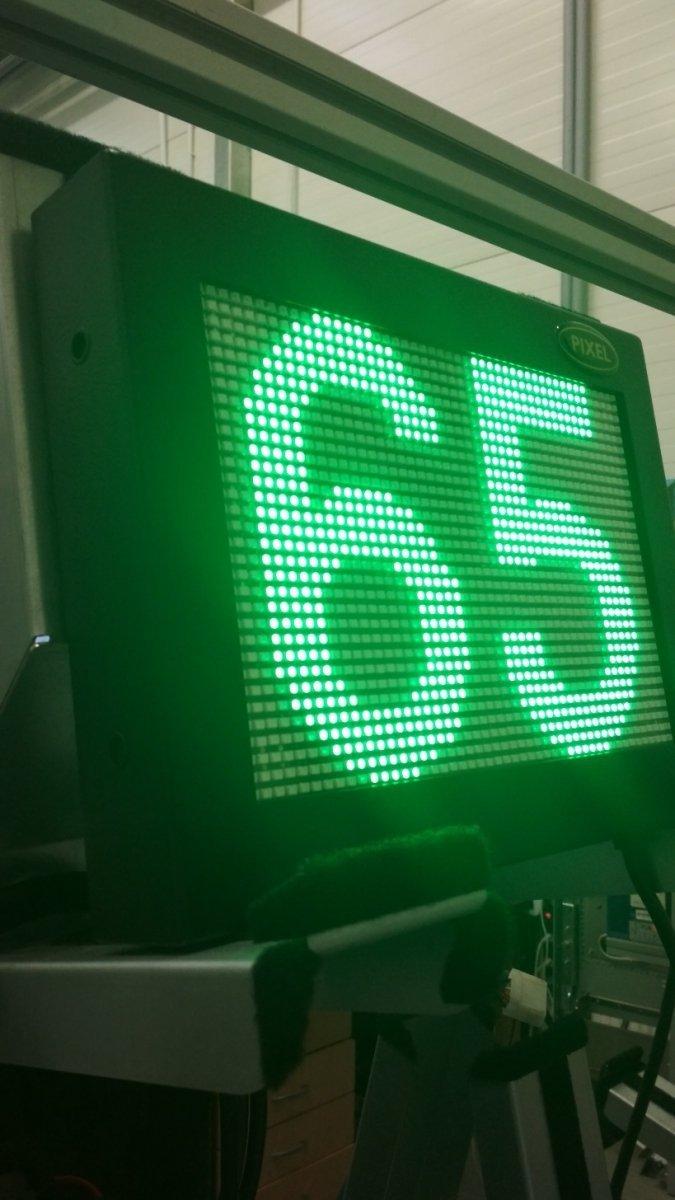 Tablica diodowa TDS32x48-5G SMD raster 5mm, kolor świecenia zielony