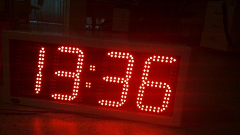 Zegar 2ZD6-S diodowy - Slave dwustronny kolor diod czerwony - Produkt kolekcjonerski